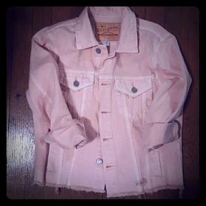 Lucky pink denim jacket